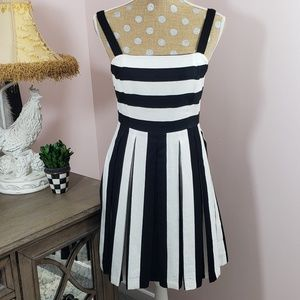 NWT Loft black & white striped dress sz. 4 Petite